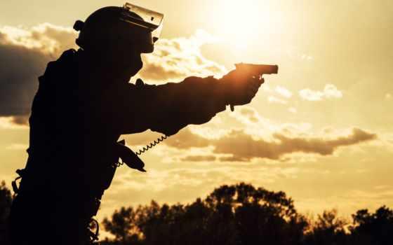 силуэт, stock, солдат, закат, фото, офицерский, police, военный, images,