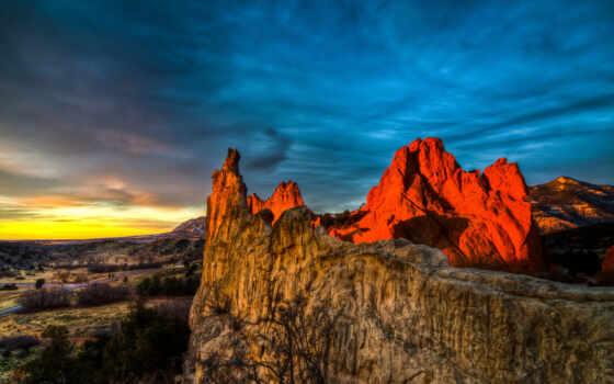гора, rock, закат, семья, небо, татуировка, see, идея, vacation, red, distance