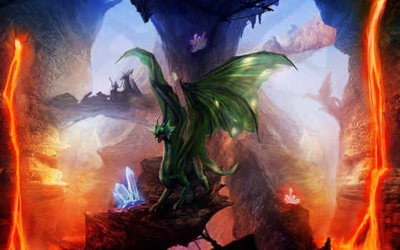 арт, драконы