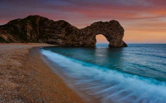 море, water, cliff
