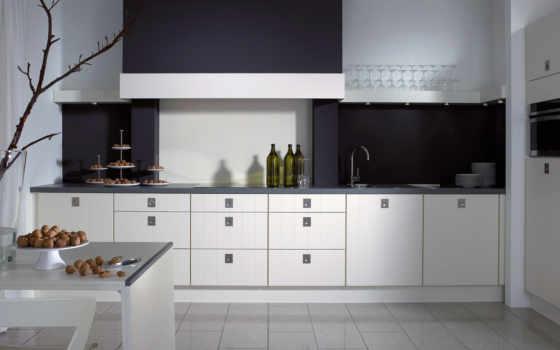 кухня, чёрно, кухни