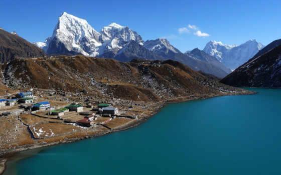 горы, nepal, побережье