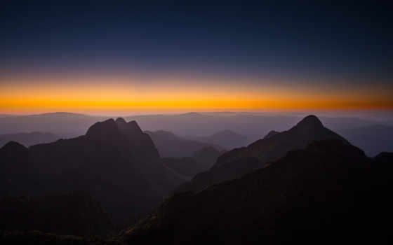 mountains, природа, закат
