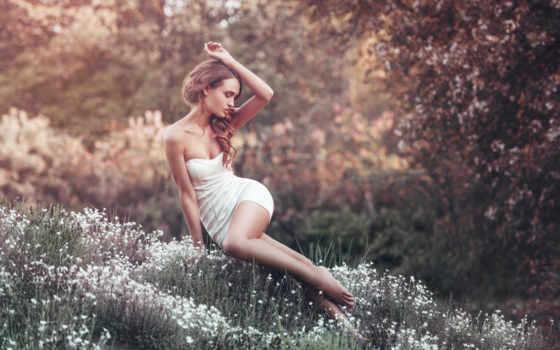 women, поле, lady, flowers, женщина, stock, free, elegant,