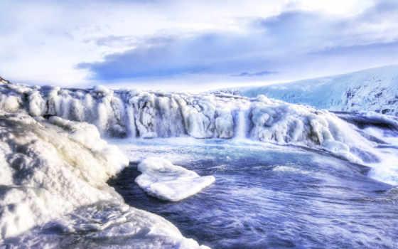 landscape, iceland, icy, ноутбук