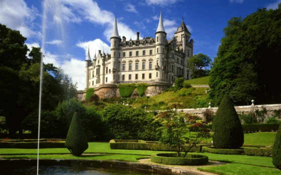dunrobin, castle, картинка, вид, красиво, castles,, fotos, castillo, paisagens, castelo, sutherland, escocia,,