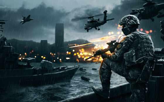 баттлфилд 4, игра оружие, военный, верталет, взрыв,
