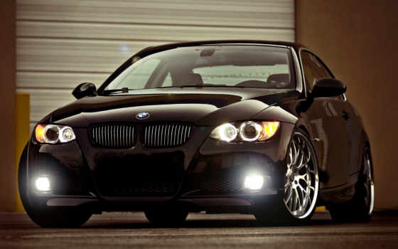 bmw, black, glare