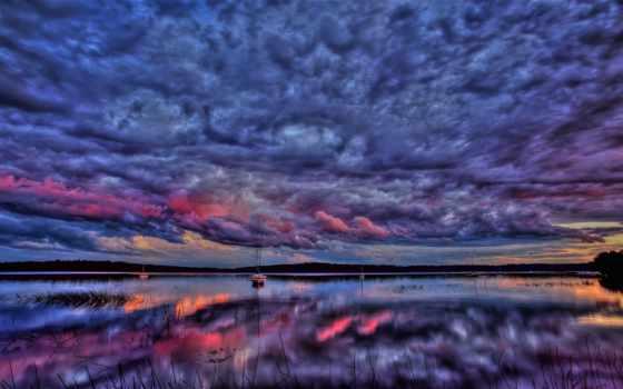 небо, high, clouds, colorful, unbelievably, июл, flowers, отражение, природа, тона,