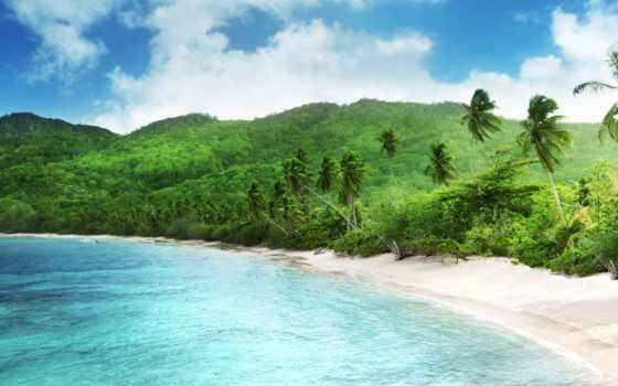 пляж, природа, море
