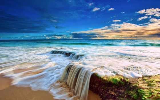 море, скалы, небо