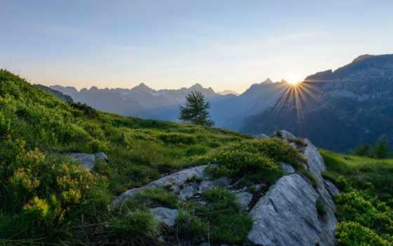 alpen, schweiz, berge, desktop, natur, sonnenaufgang, hintergrundbild, morgendämmerung, hintergründbild, tablets,