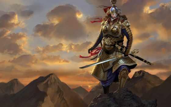 воин, меч, art, мужчина, гры, доспех, armour, самурай, скалы, top, войны,