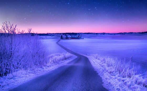 landscape, winter, bечерний, flytothesky, природа, мире, небо, звезды, favourite,