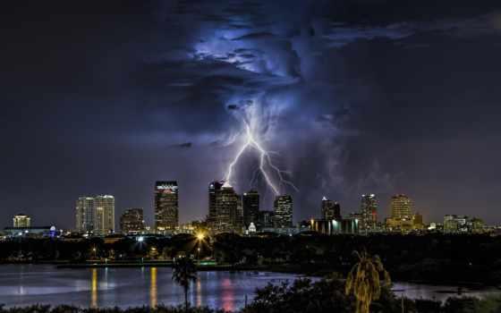 lightning, буря, со