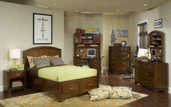 мебель, спальня, комната