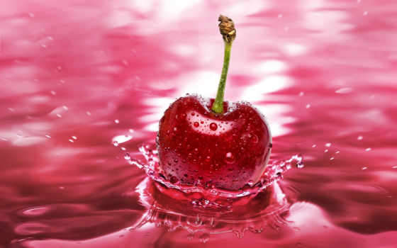 cherry, was, брызги, facts, cherries, красивые, стиль,