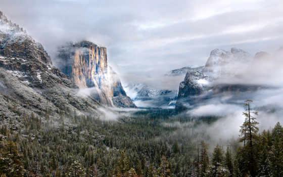 горы, туман, star, nikosho, супер,
