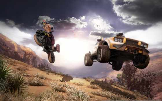 race, пересеченной, местности, мотоцикл, мотоциклы, пустыня, хаммер, внедорожник, автомобили,