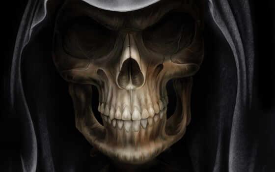 смерть, глаза, металл, fantasy, darksiders, всадник,