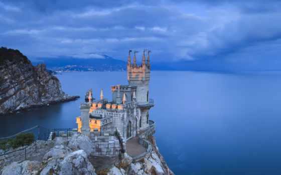 гнездо, ласточкино, крым, море, замок, ялта,