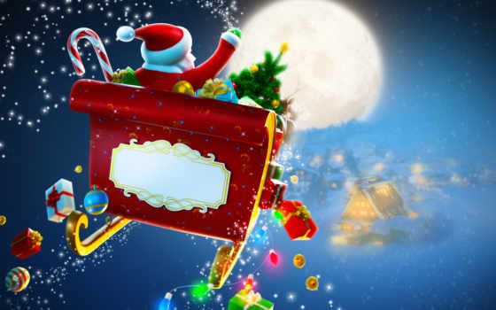 санта, клаус, christmas