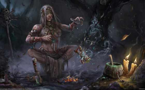 ведьмы, witch, кукла, свечи, магия,