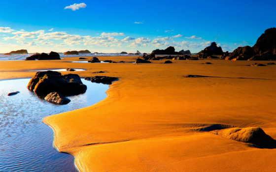 paisajes, con, playas