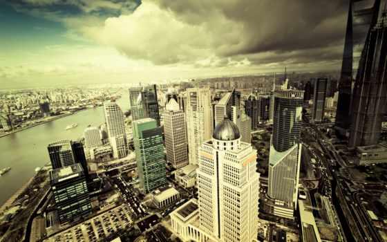 fondos, ciudad, pantalla, desde, vista, arriba, descargar, rascacielos, fondo,