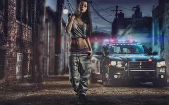 dodge, police, charger, девушка, pursuit, challenger, машины, full, самые,