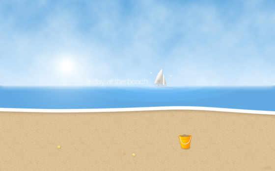 песок, пляж