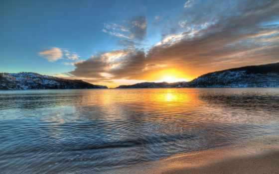 норвегия, горы, озеро Фон № 57111 разрешение 1920x1080