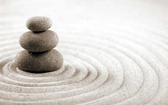 камни, песок, камней, zen, широкоформатных, satwarez,