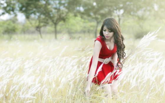 красном, платье, frases, девушка, льв, con, imágenes, para, que,