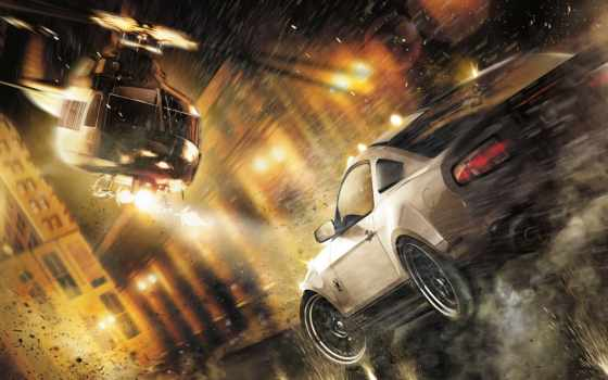 скорость, need, run, flash, ford, картинка, nfs, mustang, игры, город,