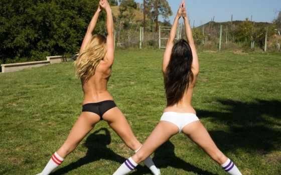 девушки, спорт, страница, спортивные, девушек, попки, поляна, гольфы, брюнетка, blonde, зелёный, panties, jones, трава, николь, georgia, lena, модели, гимнастика,