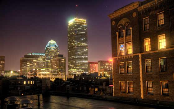 boston, ночь, usa