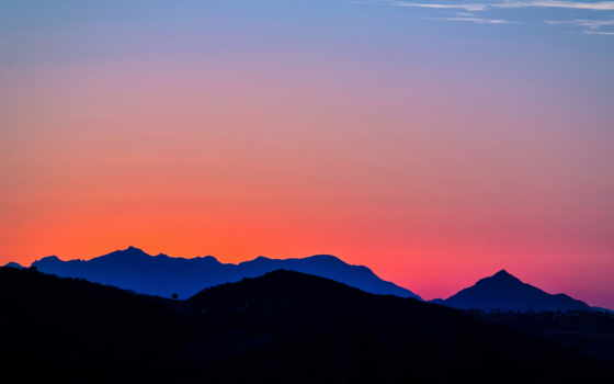 gradient, desktop, topanga, mountains, free, resolution, high,