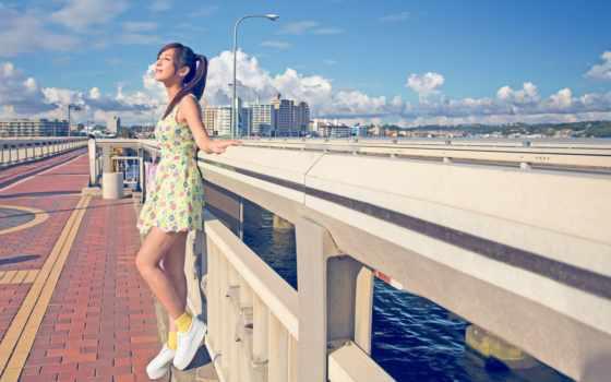 summer, девушка, город, платье, sun, devushki, настроения, картинка,