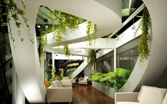 интерьере, бионика, стиль, lounge, интерьер, design, тек, отличается, hai, стиле, интерьера,
