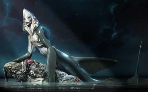 briglia, alessandro, акула, art, humanoid, artist,