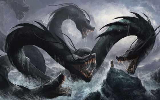 you, monster, дракон, more, дек, который, знать, голова, hydra,