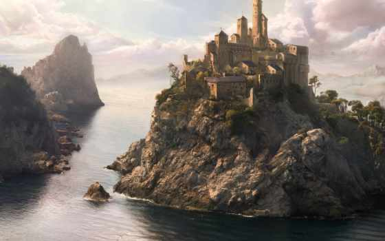 fantasy, замки, world, castle, fantastic, art,