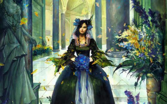 девушка, рисунок Фон № 16962 разрешение 1920x1200