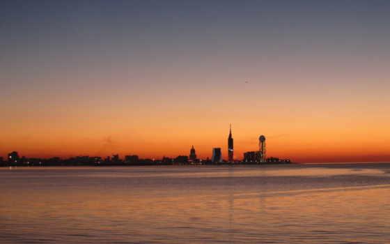 батуми, море, город