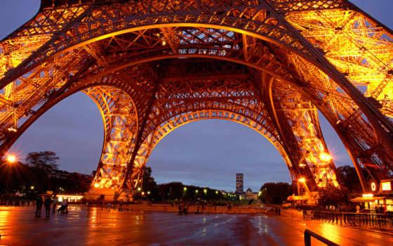 эйфелева, turret, eiffel, париж, башня, french, франция, огни,