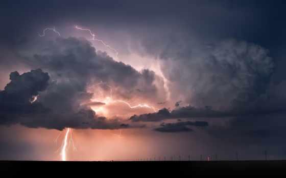 lightning, тучи, буря, облако, дождь, небо, молнии, природа,