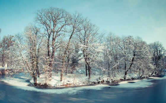 снег, winter, girls, dpz, пейзажи -, landscape, река, stylish,