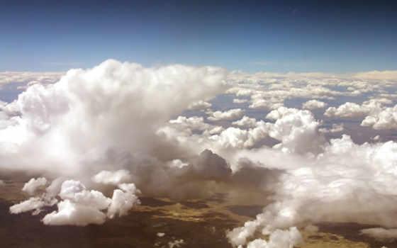 небо, height, объемные, oblaka, перистые,