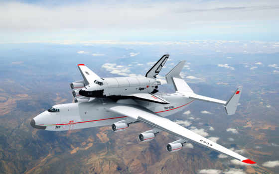буран, мрия, ан, shuttle, antonov, самолёт, картинка, авиация,